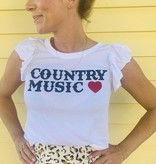 Chaser Brand Chaser Flutter Sleeve Country Music Tee