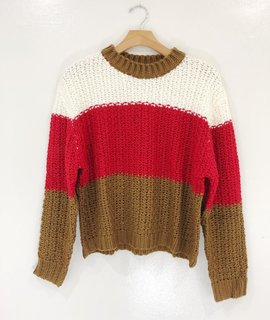 Lush Clothing Jonnie Color Block Sweater