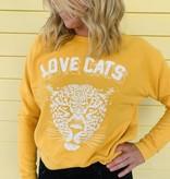 Daydreamer Daydreamer Love Cats Varsity Pullover