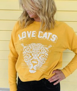 Daydreamer Daydreamer Love Cats Varsity Pullover
