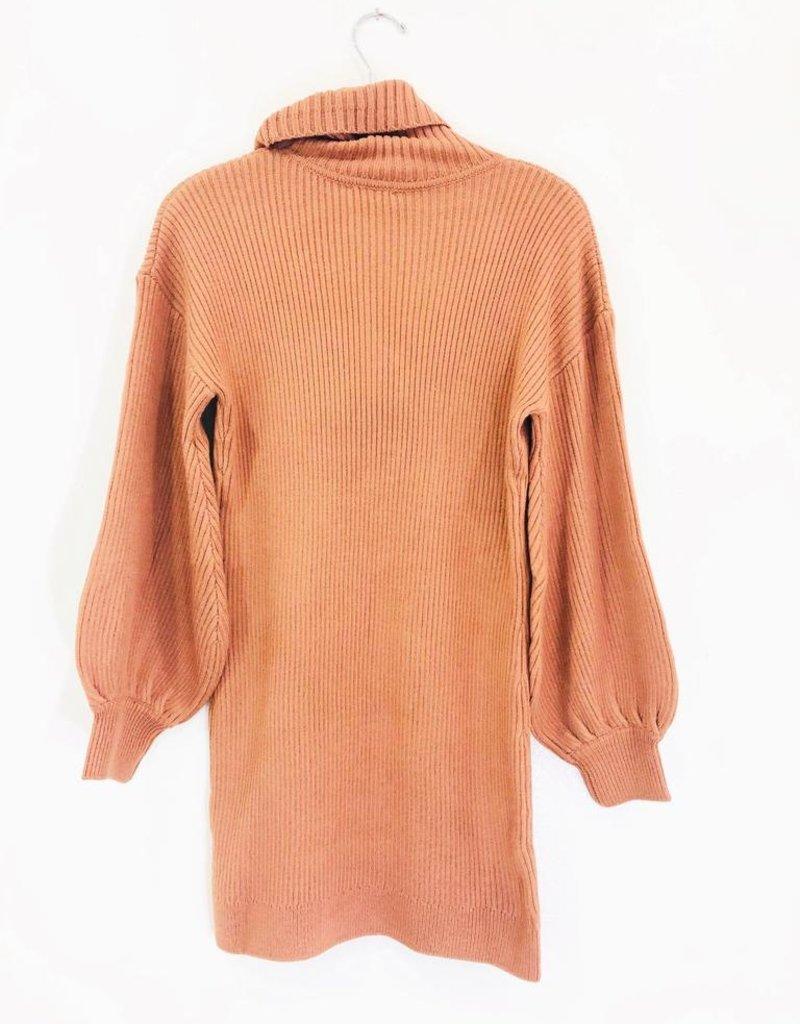 Lush Clothing Lush Turtle Neck Sweater Dress