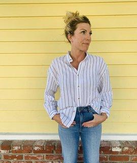 Rollas Jeans Rollas Slouch Stripe Shirt