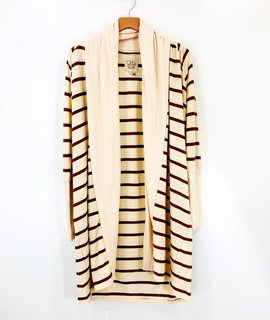 Chaser Brand Chaser Striped Knit Duster