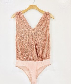 Lush Clothing Lush Sequin Plunge Bodysuit