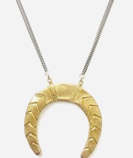 Farrah B Jewelry Farrah B Jewelry Crescent Necklace