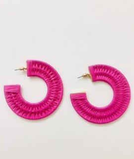 Fame Accessories Circle BraId Hoop Earrings