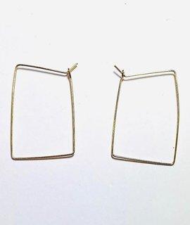 Fashionistar Rectangle Hoop Earring