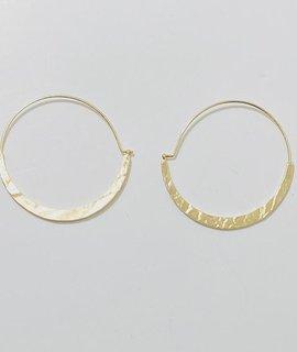 Fashionistar Hammered Hoop Earrings
