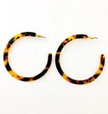 Fashionistar Acetate Hoop Earrings