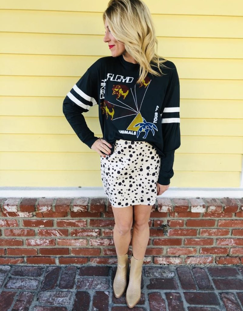 Trend Notes Kiss My Cow Hide Skirt