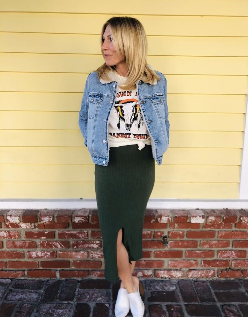 Trend Notes Trend Notes Midi Sweater Skirt