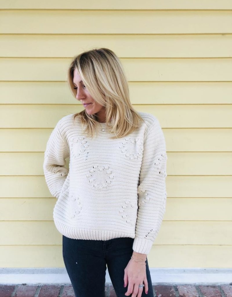 Lush Clothing Two Hearts Sweater