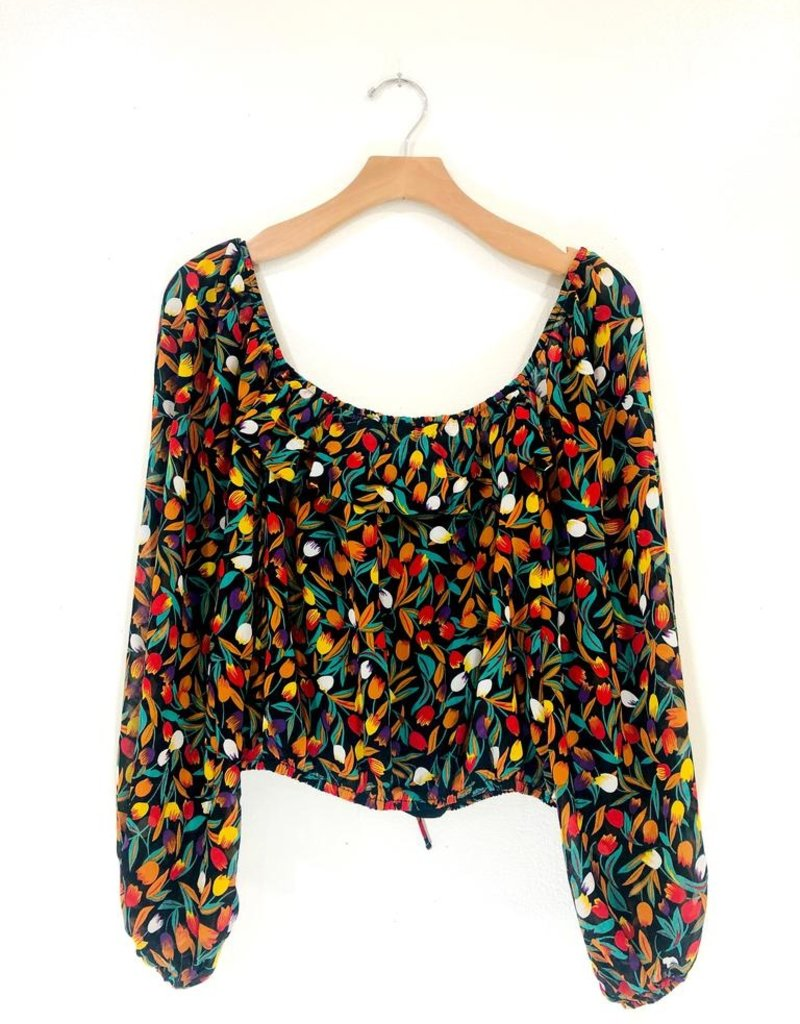 Lush Clothing Blooms Off the Shoulder Top