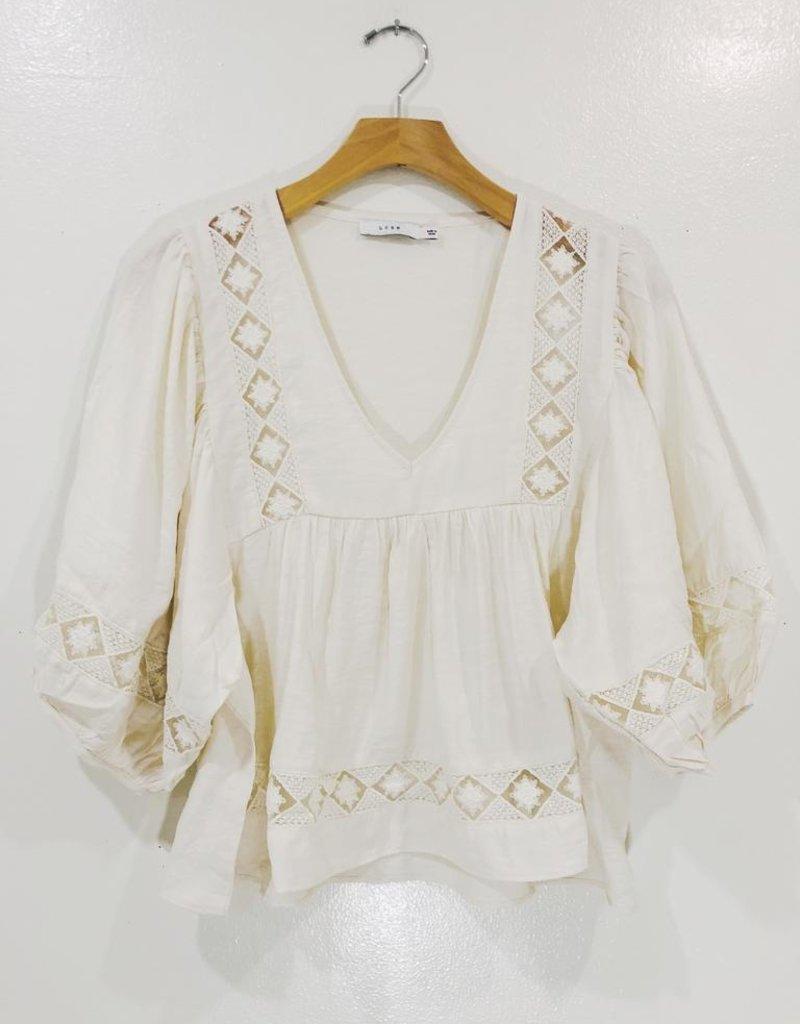 Lush Clothing Indiana Babydoll Top