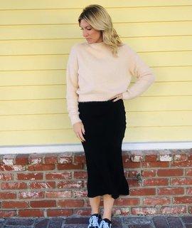Audrey 3+1 Angora Knit Long Sleeve Sweater