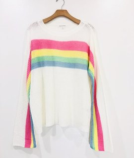Trend Notes Rainbow Knit Top