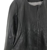 Chaser Brand Chaser Lether Collarless Coco Jacket w/ Zippers