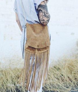 Wild Wanderer Design Wild Wanderer Design Suede Fringe Crossbody Bag