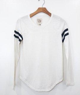 Chaser Brand Chaser Brand Bone & Black Striped Vintage Jersey
