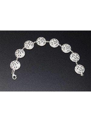 Nautilus Jewelry NAUTILUS JEWELRY FAN CORAL BRACELET (8 STATIONS) SILVER