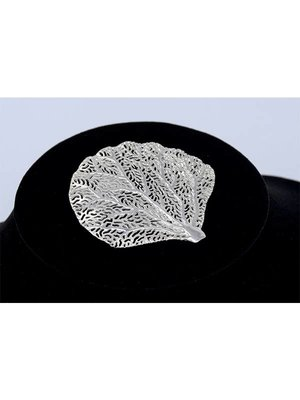 Nautilus Jewelry NAUTILUS JEWELRY SEA FAN CORAL PENDANT SILVER