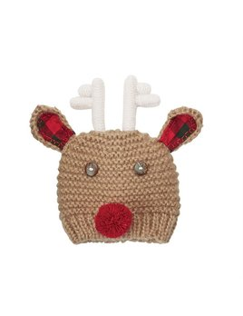 Hat Checked Reindeer Cap