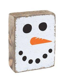 RUSTIC BLOCK - SNOWMAN FACE