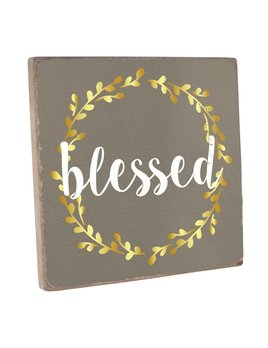 Sign Blessed Vintage Square