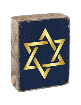 GOLD STAR OF DAVID - BLOCK