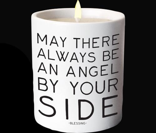 CANDLE Quotable Candle - Angel By Your SIde