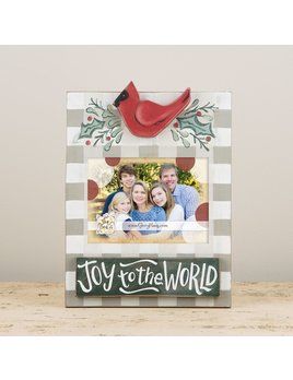 Frame Joy To The World with Red Bird Frame