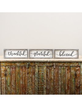 SIGN THANKFUL GRATEFUL BLESSED FRAMED BOARDS