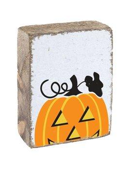 White Tumbling Block, Jack-O-Lantern