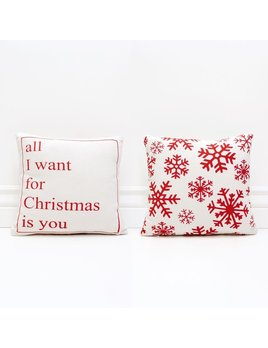 PILLOW All I Want For Christmas Is You - Red and White Pillow
