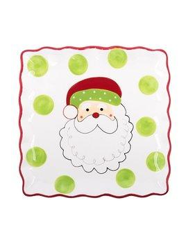 PLATTER Jolly Santa Square Platter