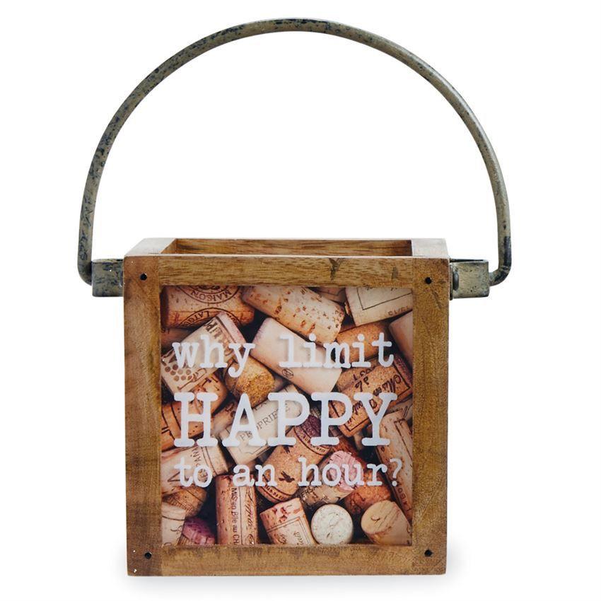 Happy Hour Mini Wine Cork Box