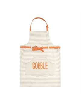 APRON Gobble Thanksgiving Striped Apron