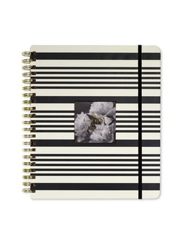 Kate Spade New York Large Planner, Black Stripe (Jan-Dec)