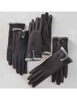 GLOVES Initial Knit Gloves