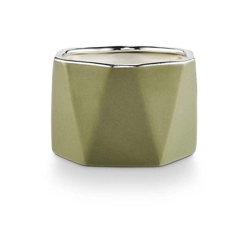 CANDLE Holiday Shine Dylan Electroplated Ceramic, Balsam and Cedar