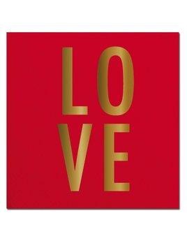 NAPKINS 20ct Napkin LOVE Foil