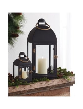 ACCSSORIES Black Metal Lantern Set