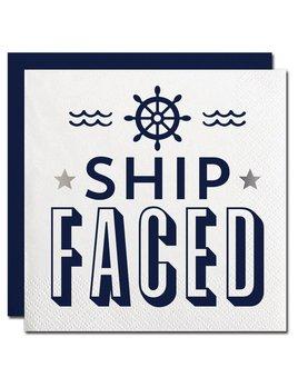 NAPKINS 20ct Ship Faced Beverage Napkin