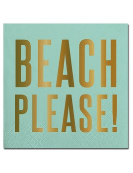 NAPKINS Beach Please! Beverage Napkins - 20ct