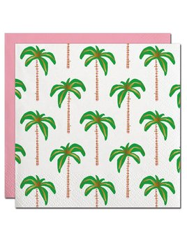 NAPKINS 20ct Palms Pattern with Gold Foil Beverage Napkin