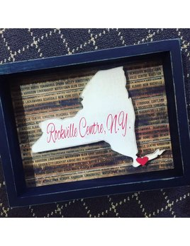 Sign Personalized New York State Box Sign