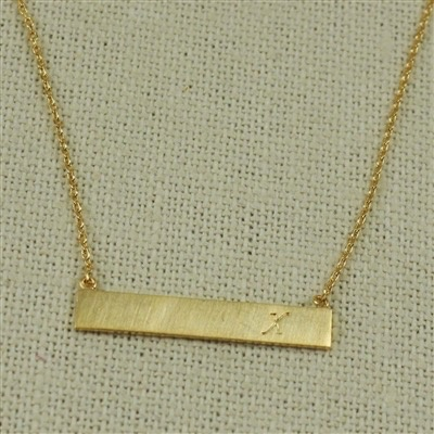 NECKLACE Gold Bar Initial Necklace by Cool and Interesting