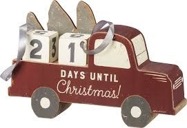 Sign Christmas Car - Countdown Block
