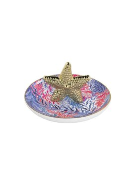 RING DISH Lilly Pulitzer Ring Holder, Kaleidoscope Coral