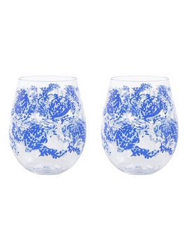 WINE GLASS Lilly Pulizer Acrylic Wine Glass Set, Turtley Awesome